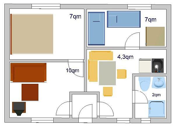 Ferienwohnungen 4 personen ferienwohnungen for Einrichtungsbeispiele im reihenhaus